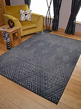Trend Dark Grey Faded Design Rug. Available in 8