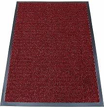 TrendMakers Machine Washable Wine Red/Black Heavy