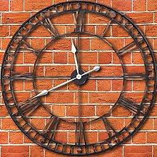 TrendMakers Stunning Large 80cm Metal Wall Clock