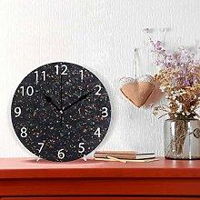Trendy Background in Dark Design Round Wall Clock,