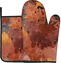 Trendy Chic Terracotta Rust Orange Brown Oven