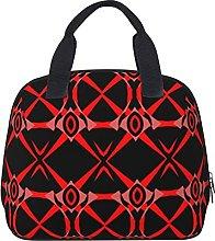 Trendy Stylish Chic Red Pink Black Op Art Pattern
