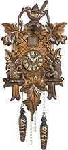 Trenkle Quartz Cuckoo Clock 5 leaves, bird,