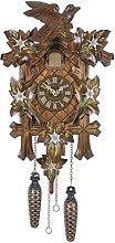 Trenkle Quartz Cuckoo Clock 5-leaves, bird TU 353 Q
