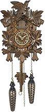 Trenkle Quartz Cuckoo Clock 5 leaves, bird TU 412 Q