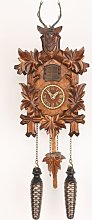 Trenkle Quartz Cuckoo Clock 5 leaves, head of a