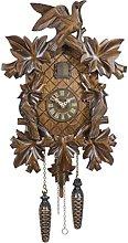 Trenkle Quartz Cuckoo Clock 7 leaves, 3 birds