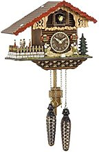 Trenkle Quartz Cuckoo Clock Swiss house, turning