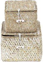 Tresor Seagrass 3 Piece Basket Set (Set of 3)
