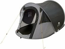 Trespass 2 Man 1 Room Festival Pop Up Tent Black