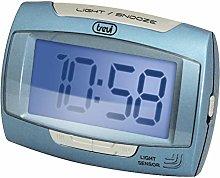 Trevi 12h/24h Digital LED Bedside/Travel Alarm