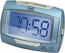Trevi 12h/24h Digital LED Bedside/Travel Alarm
