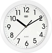 Trevi 3301 25cm Silent Quartz Wall Clock (White)