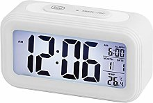 Trevi Alarm Clock, White, Unique