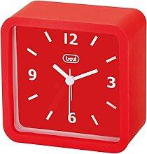 Trevi Clock, Plastic 10.3x10.3x5 cm red