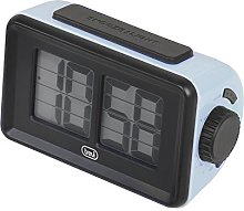 Trevi Digital Clock with Flip Animation, Blue, 12