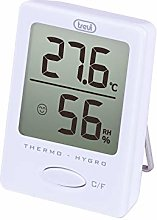 Trevi Digital Hygrometer Thermometer, White