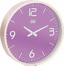 Trevi OM 3311 L Wall Clock, Wood/Plastic, Purple,