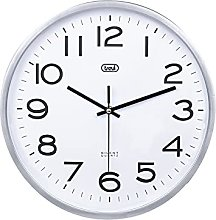 Trevi Wall Clock, Silver, One size