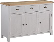 Trevino Large Sideboard In Antique Grey Painted
