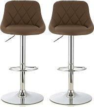 Trezzo Modern Bar Stool In Cappuccino Faux Leather