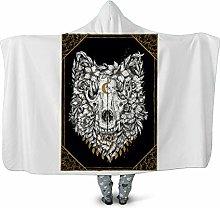 TRGCJGH Hooded Blanket 3D Thick Blanket Winter