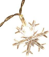 TRHJ Christmas Snowflake Lamp String Color Lamp