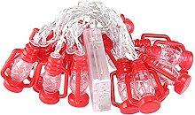 TRHJ Solar Lamp String Halloween Kerosene Bottle