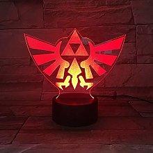 Triangle 3D USB LED Night Light Illusion Lamp