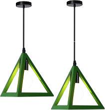 Triangle Pendant Light Classic Green Antique