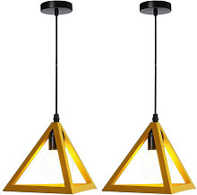 Triangle Pendant Light Classic Yellow Antique