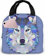 Triangle Wolf Design Lunch Bag Cooler Bag Women