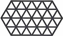 Triangles Oblong Trivet, Black