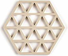 Triangles Silicone Trivet, Birch