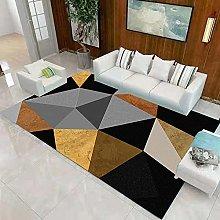 Triangular geometry Living room carpet vintage
