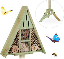Triangular Insect Hotel on Stand, Garden Nesting