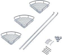Triangular Shower Caddy, 3 Tier Bathroom Bath