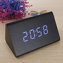 Triangular Wooden LED Alarm Clock Wood Digital