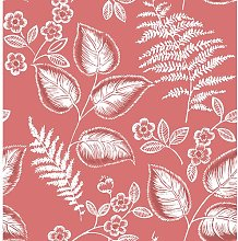 Trianon 10.05m x 52cm Botanical Roll Wallpaper