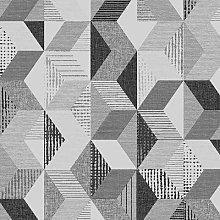 Tribal Geometric Print Wallpaper Grey Black White