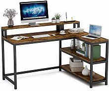 Tribesigns Computer Desk,Corner Desk With Monitor