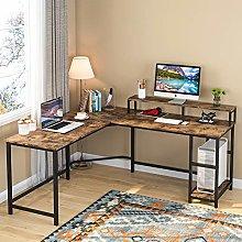 Tribesigns Computer Desk Gaming Desk L-Shaped