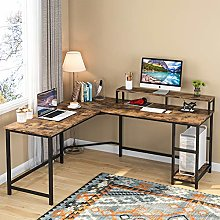 Tribesigns Computer Desk Gaming Desk L-Shaped