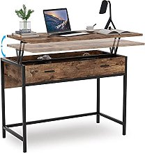Tribesigns Computer Desk, Height-Adjustable PC