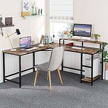 Tribesigns Computer-Desk Office Desk L-Shaped Wood