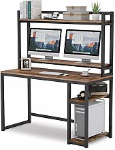 Tribesigns Computer Desk with Hutch, Large Office