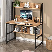 Tribesigns Computer Desk with Hutch, Modern PC