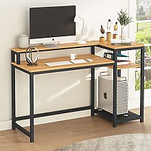 Tribesigns Computer Desk with Storage Shelves &