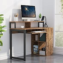Tribesigns desk table,computer desk with Push-Pull