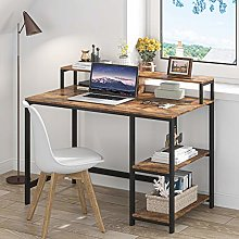 Tribesigns desk with shelves,more color (Brown)